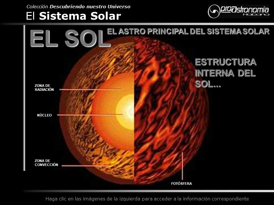 EL ASTRO PRINCIPAL DEL SISTEMA SOLAR