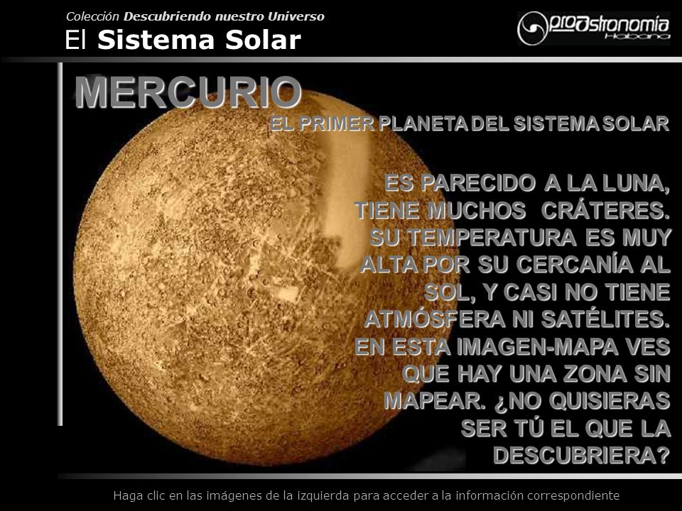 EL PRIMER PLANETA DEL SISTEMA SOLAR