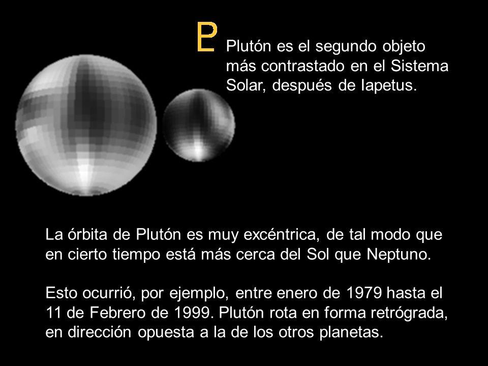 Datos sobre Plutón Plutón es el segundo objeto más contrastado en el Sistema Solar, después de Iapetus.
