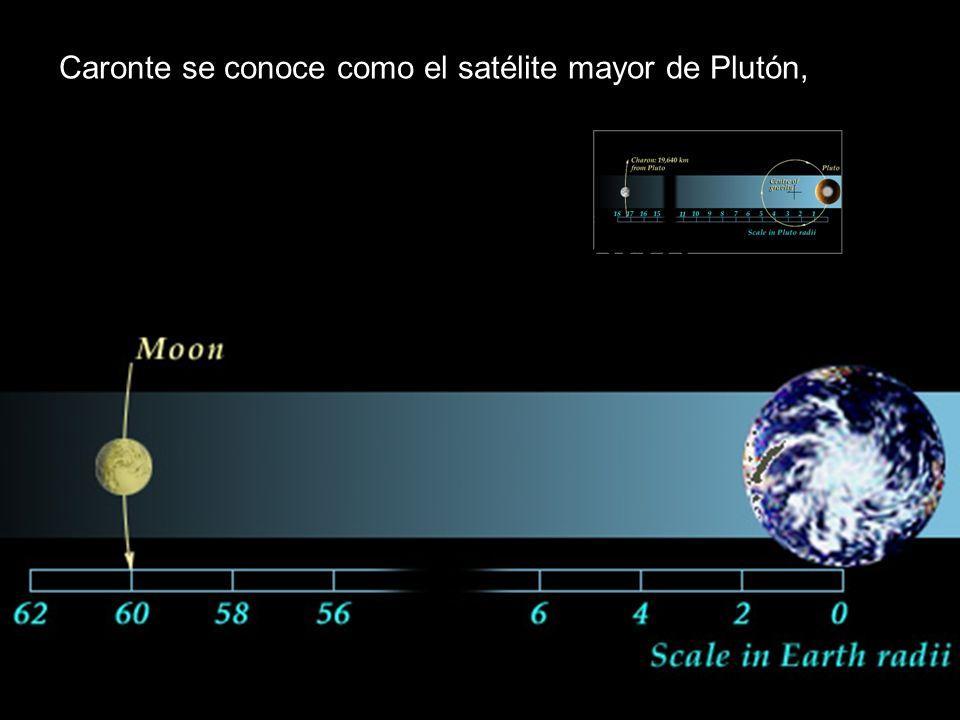 Caronte se conoce como el satélite mayor de Plutón,