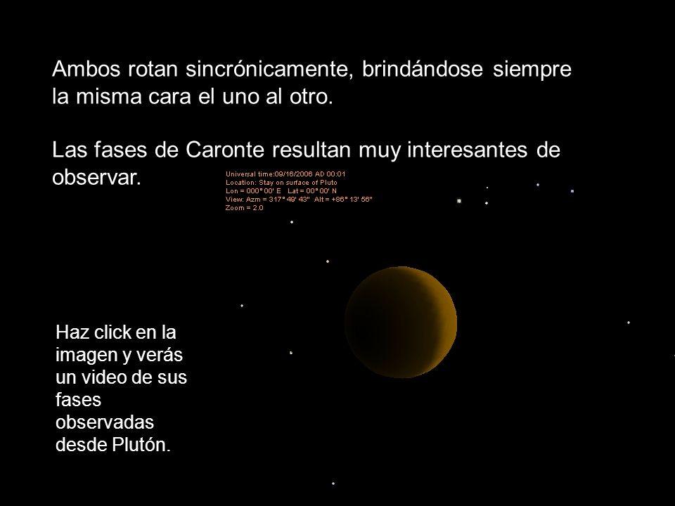 Las fases de Caronte resultan muy interesantes de observar.