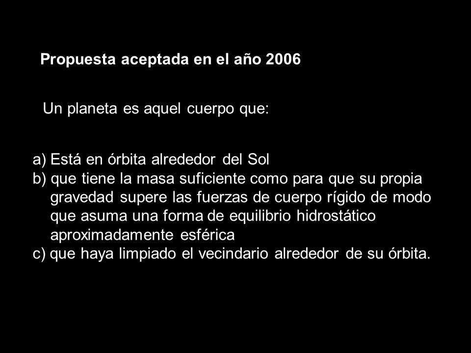 Propuesta aceptada en el año 2006