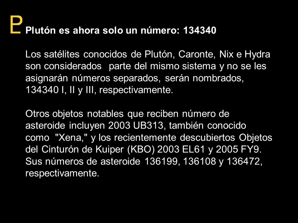 Plutón es ahora solo un número: 134340