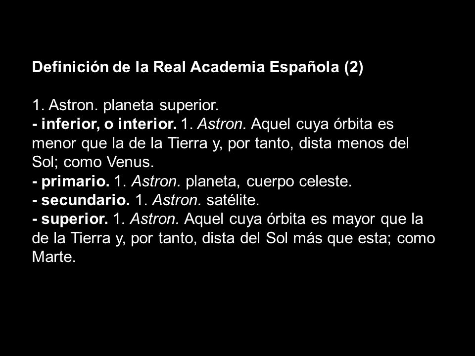 Definición de la Real Academia Española (2)