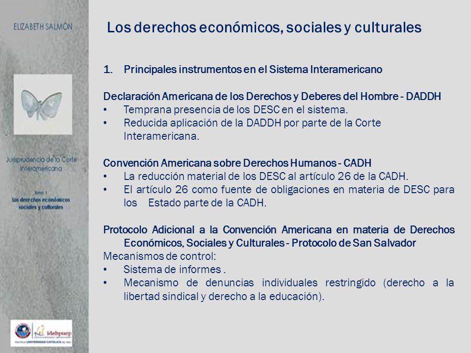 Los derechos económicos, sociales y culturales