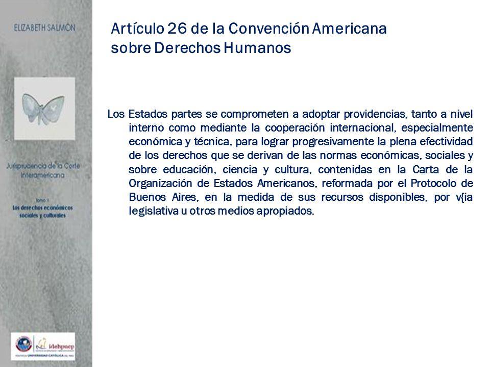 Artículo 26 de la Convención Americana sobre Derechos Humanos