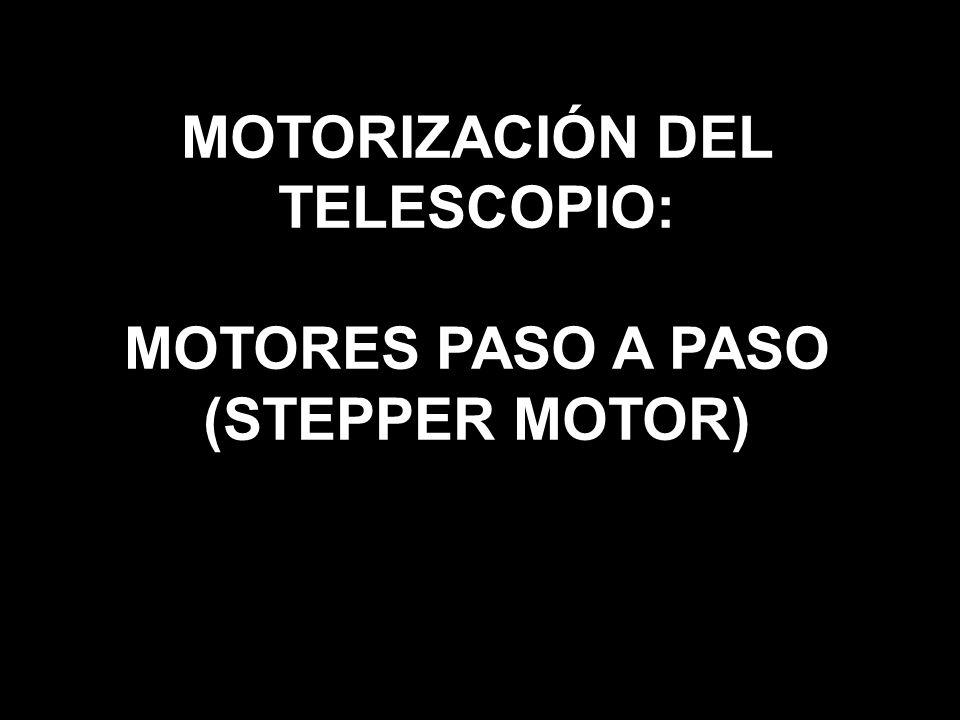MOTORIZACIÓN DEL TELESCOPIO: