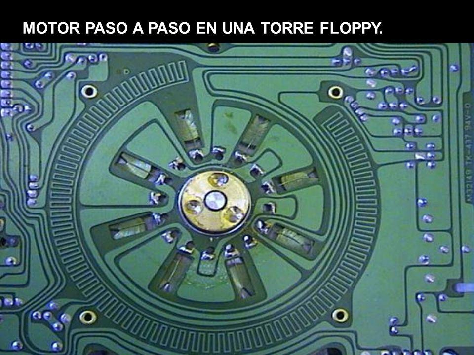 MOTOR PASO A PASO EN UNA TORRE FLOPPY.