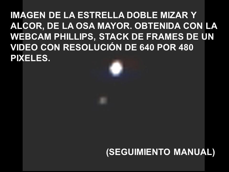IMAGEN DE LA ESTRELLA DOBLE MIZAR Y ALCOR, DE LA OSA MAYOR