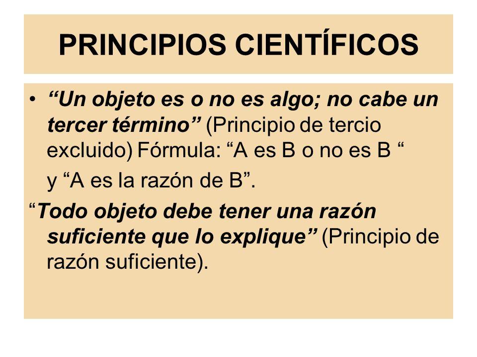 PRINCIPIOS CIENTÍFICOS