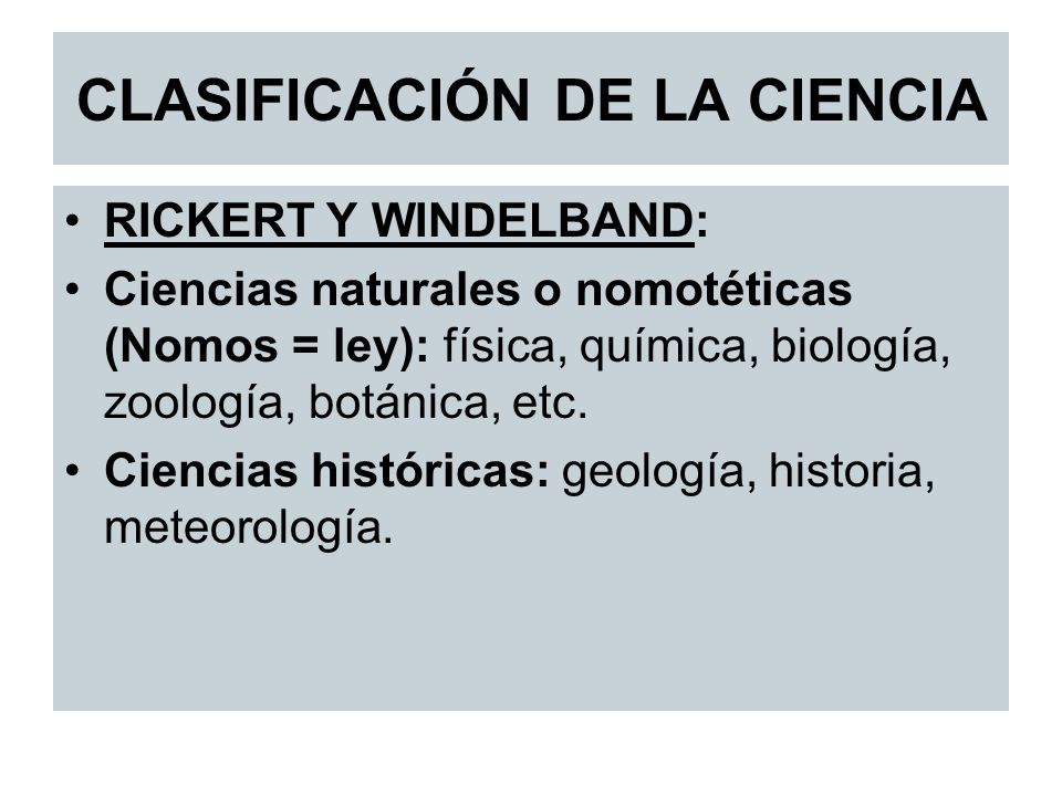 CLASIFICACIÓN DE LA CIENCIA