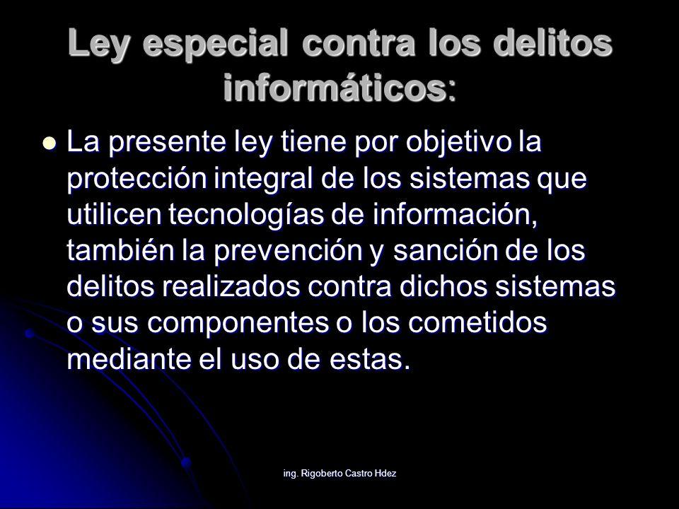 Ley especial contra los delitos informáticos: