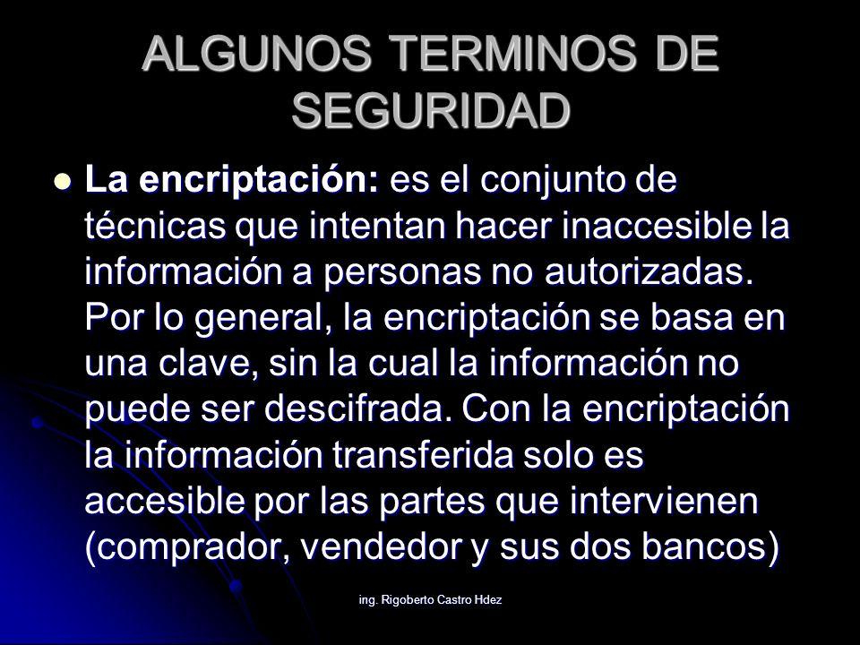 ALGUNOS TERMINOS DE SEGURIDAD