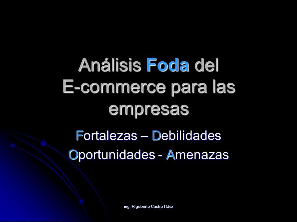 Análisis Foda del E-commerce para las empresas