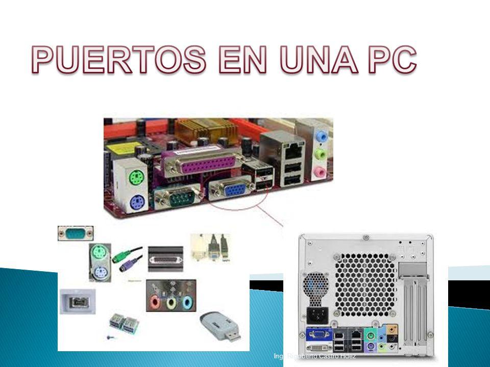 PUERTOS EN UNA PC Ing. Rigoberto Castro Hdez