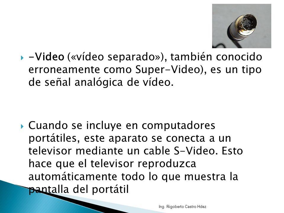 -Video («vídeo separado»), también conocido erroneamente como Super-Video), es un tipo de señal analógica de vídeo.