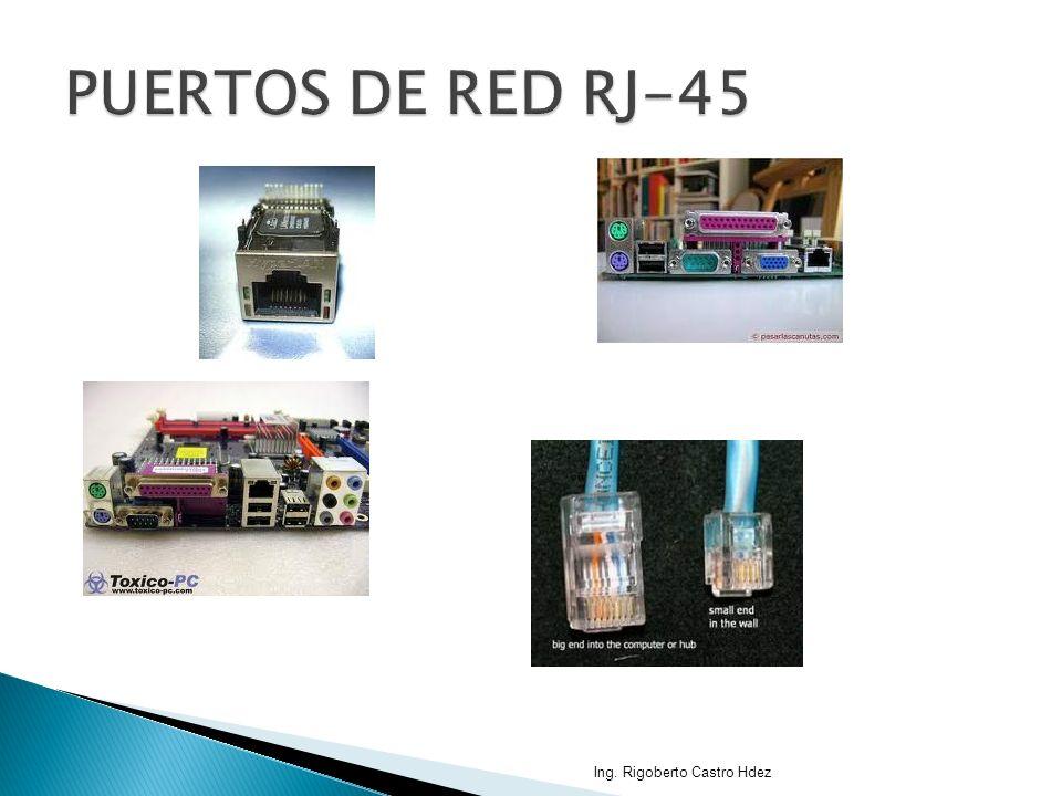 PUERTOS DE RED RJ-45 Ing. Rigoberto Castro Hdez