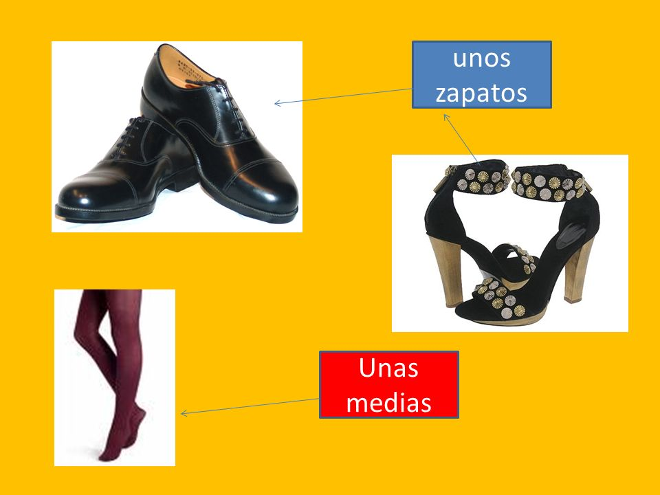 unos zapatos Unas medias