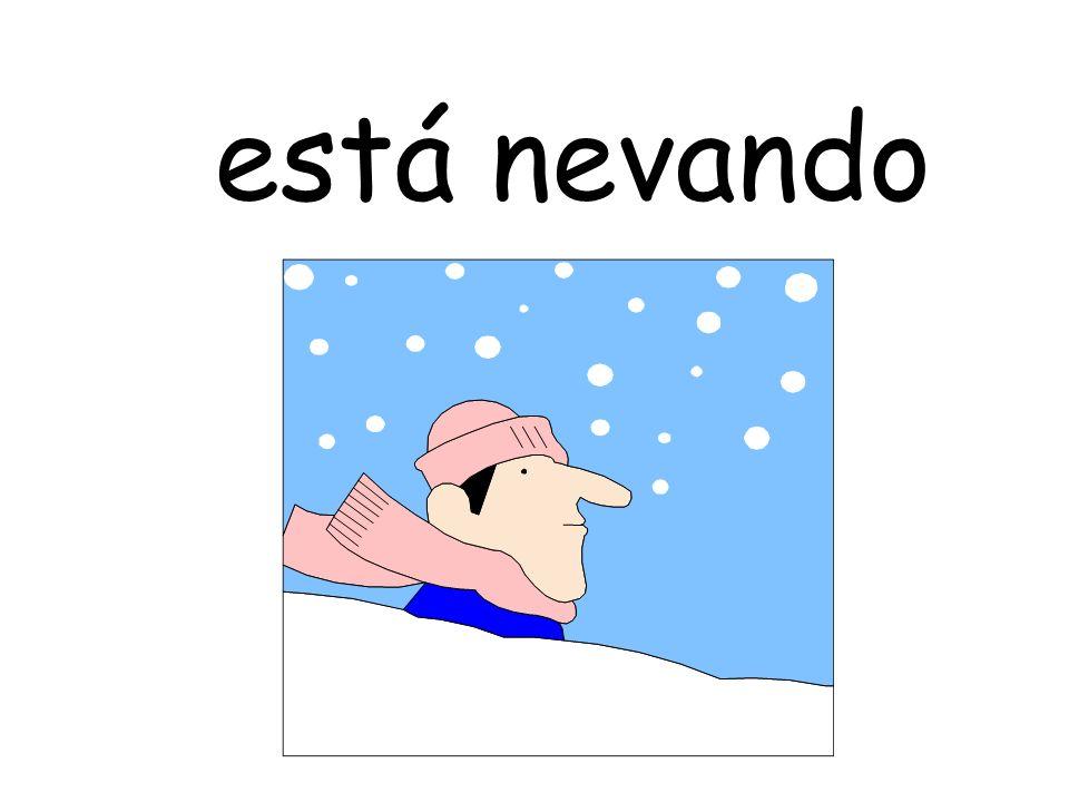 está nevando