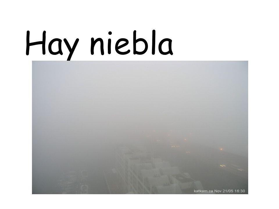 Hay niebla