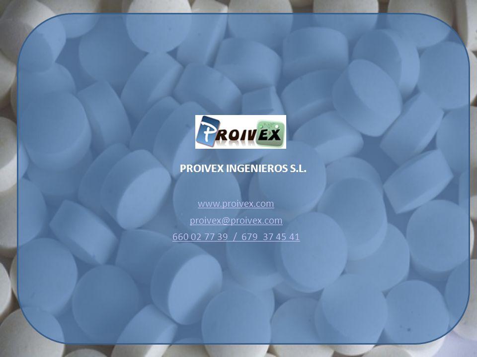 PROIVEX INGENIEROS S.L. www.proivex.com proivex@proivex.com