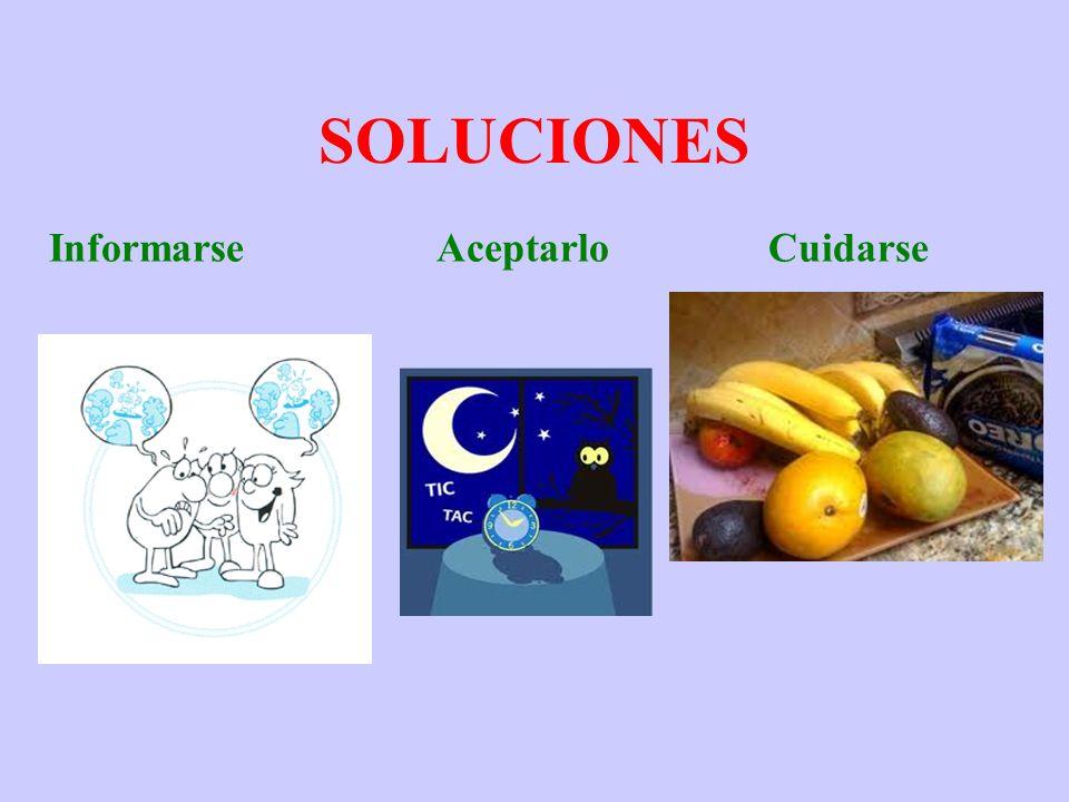 SOLUCIONES Informarse Aceptarlo Cuidarse