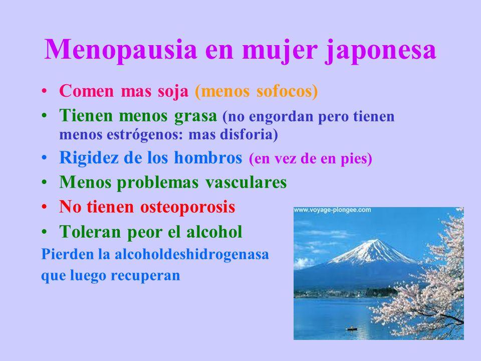 Menopausia en mujer japonesa