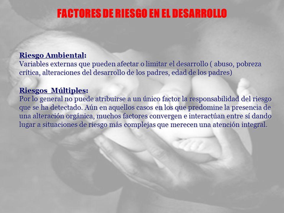 FACTORES DE RIESGO EN EL DESARROLLO