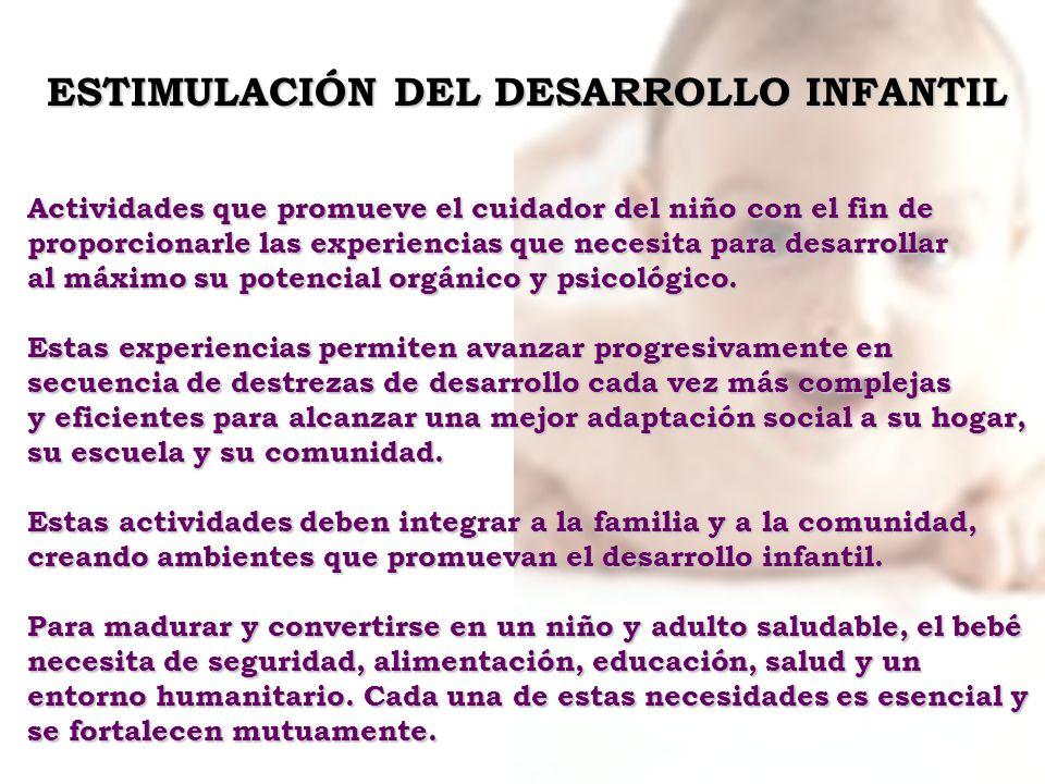 ESTIMULACIÓN DEL DESARROLLO INFANTIL