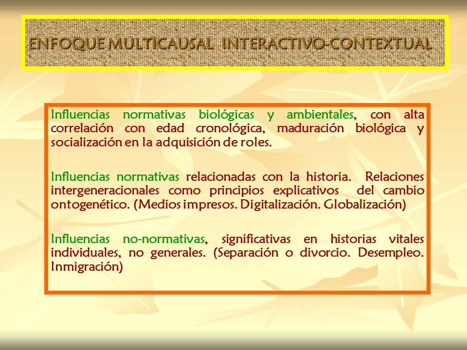 ENFOQUE MULTICAUSAL INTERACTIVO-CONTEXTUAL