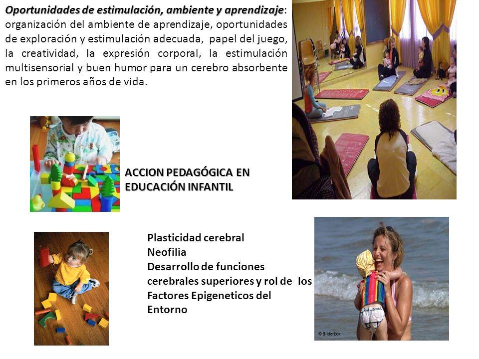 Oportunidades de estimulación, ambiente y aprendizaje: