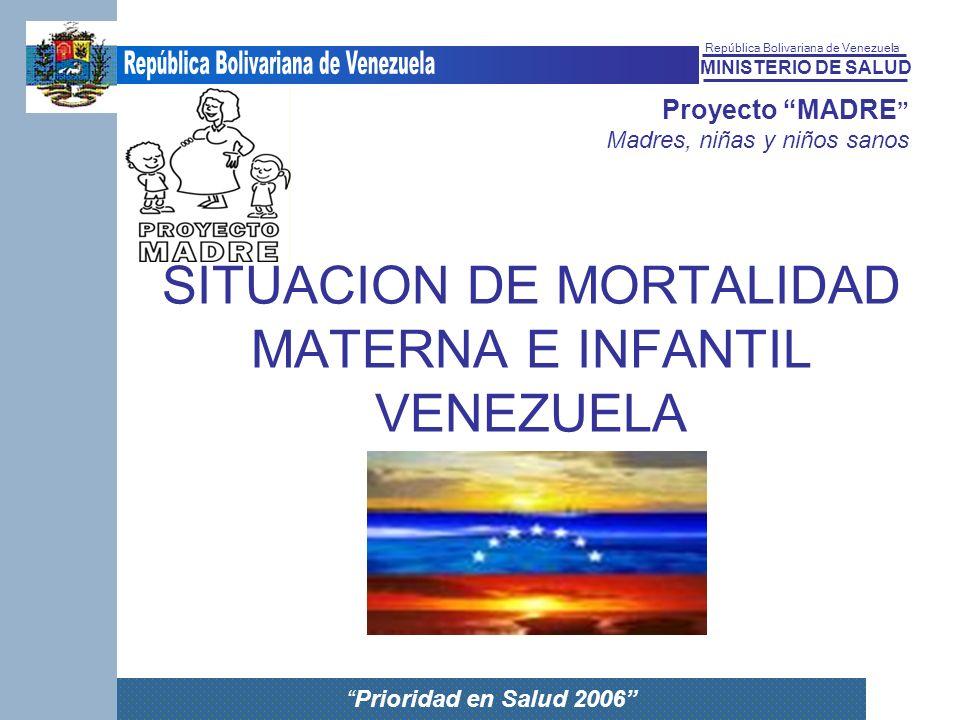 SITUACION DE MORTALIDAD MATERNA E INFANTIL VENEZUELA