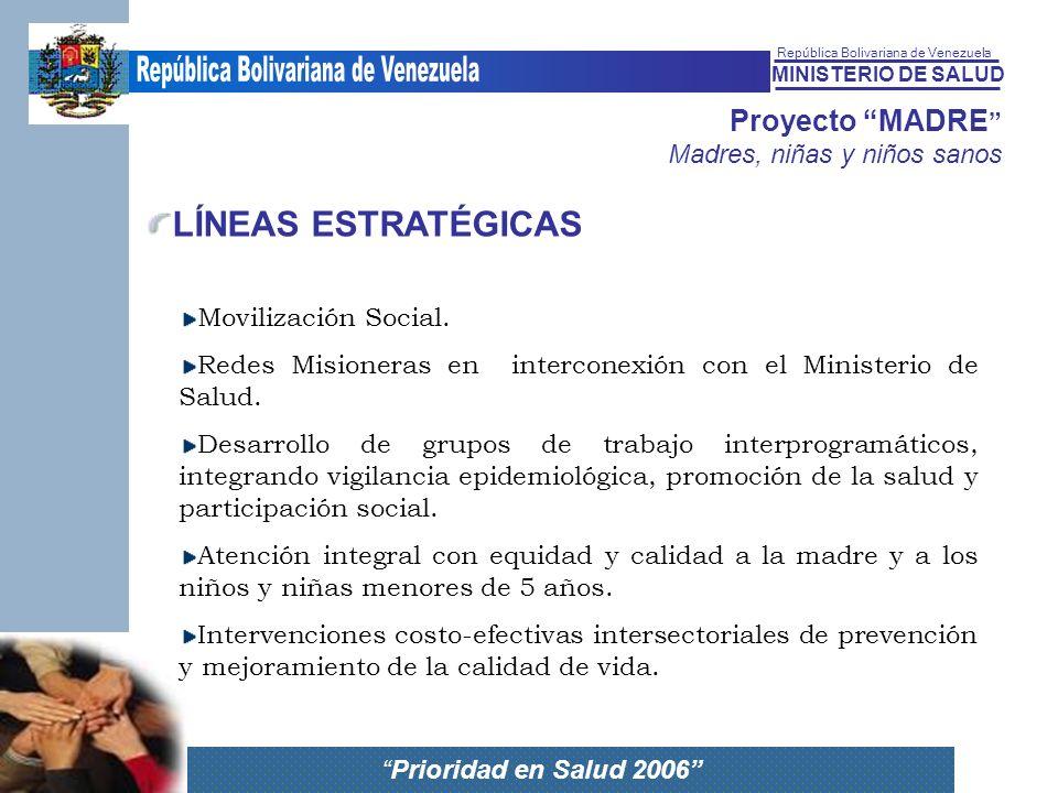 LÍNEAS ESTRATÉGICAS Movilización Social.
