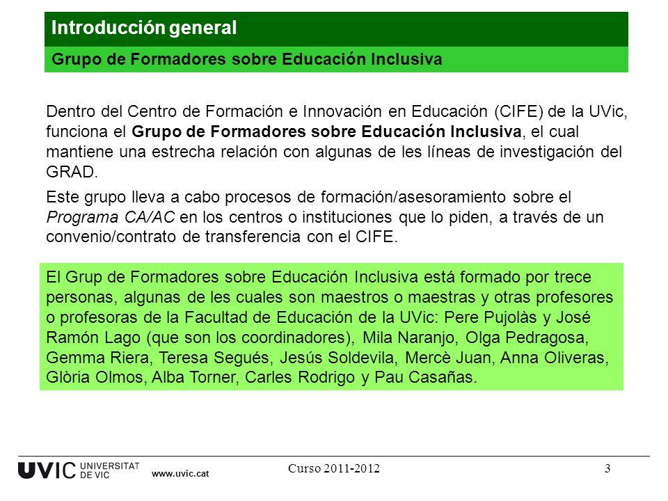 Introducción general Grupo de Formadores sobre Educación Inclusiva