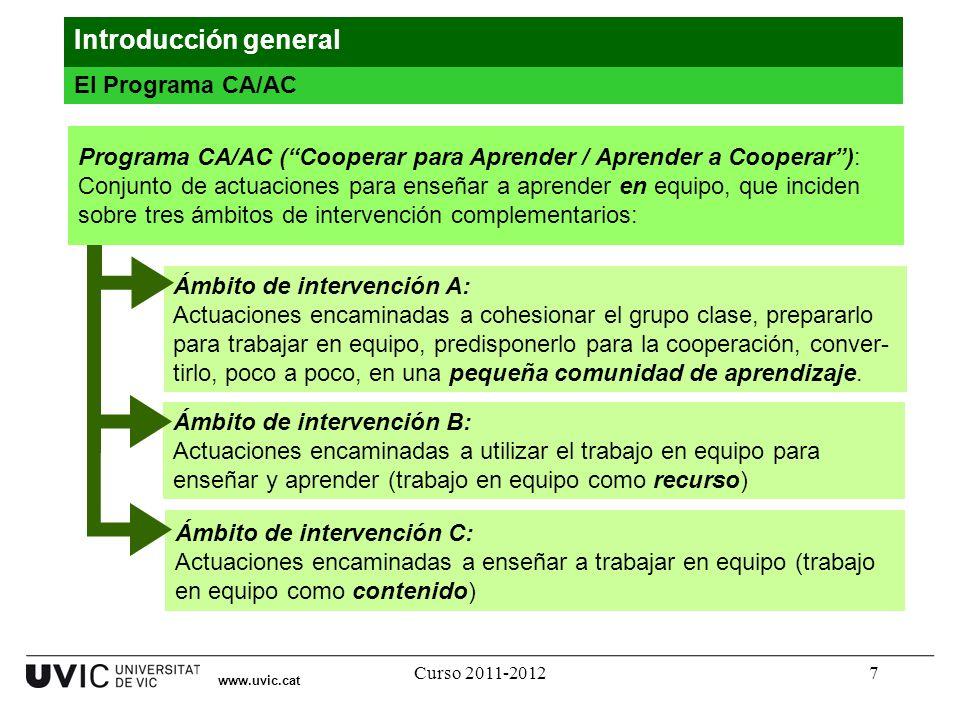 Introducción general El Programa CA/AC