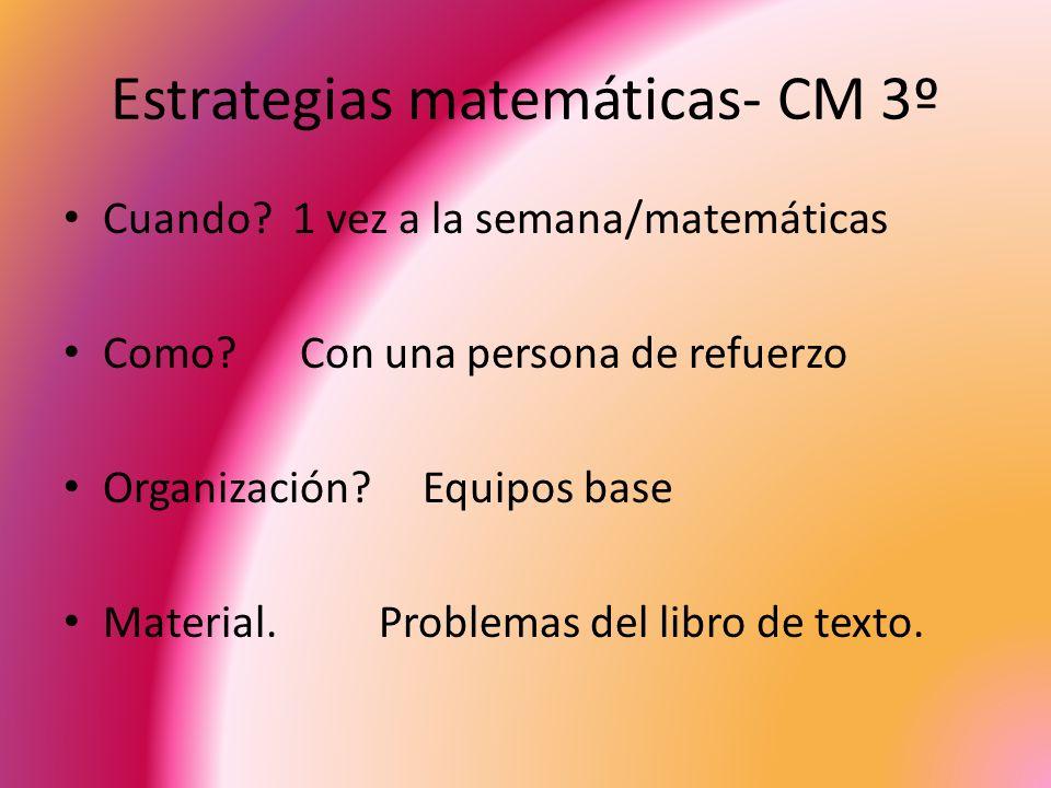 Estrategias matemáticas- CM 3º