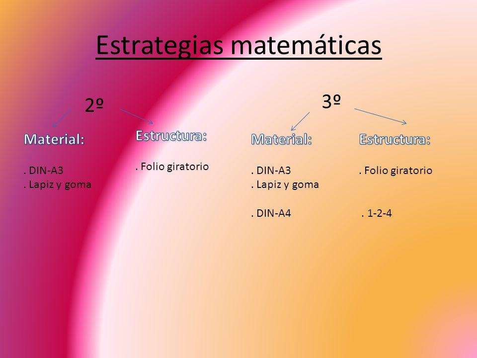Estrategias matemáticas