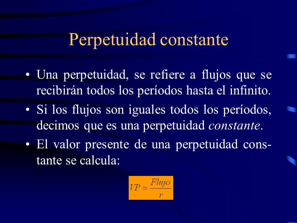 Perpetuidad constante