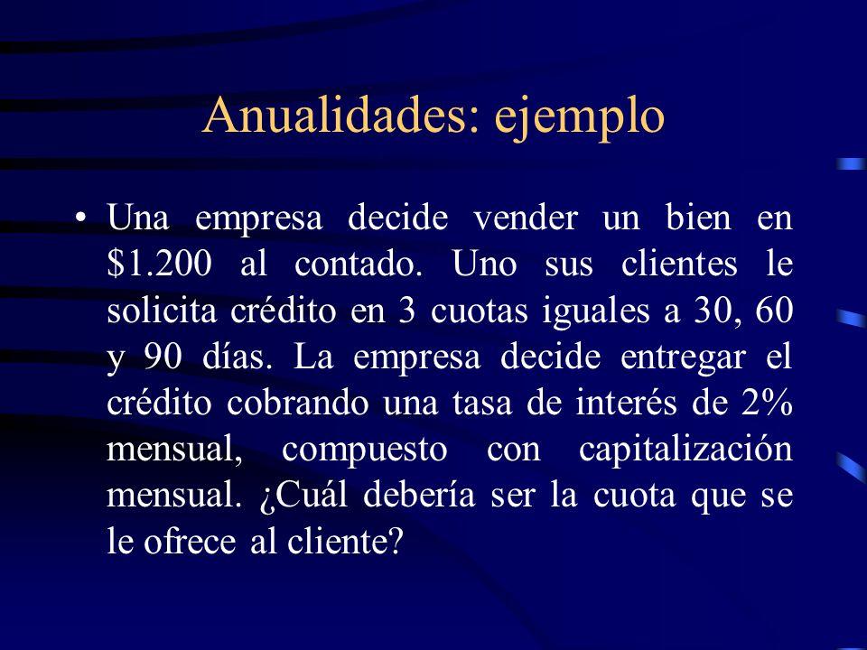 Anualidades: ejemplo
