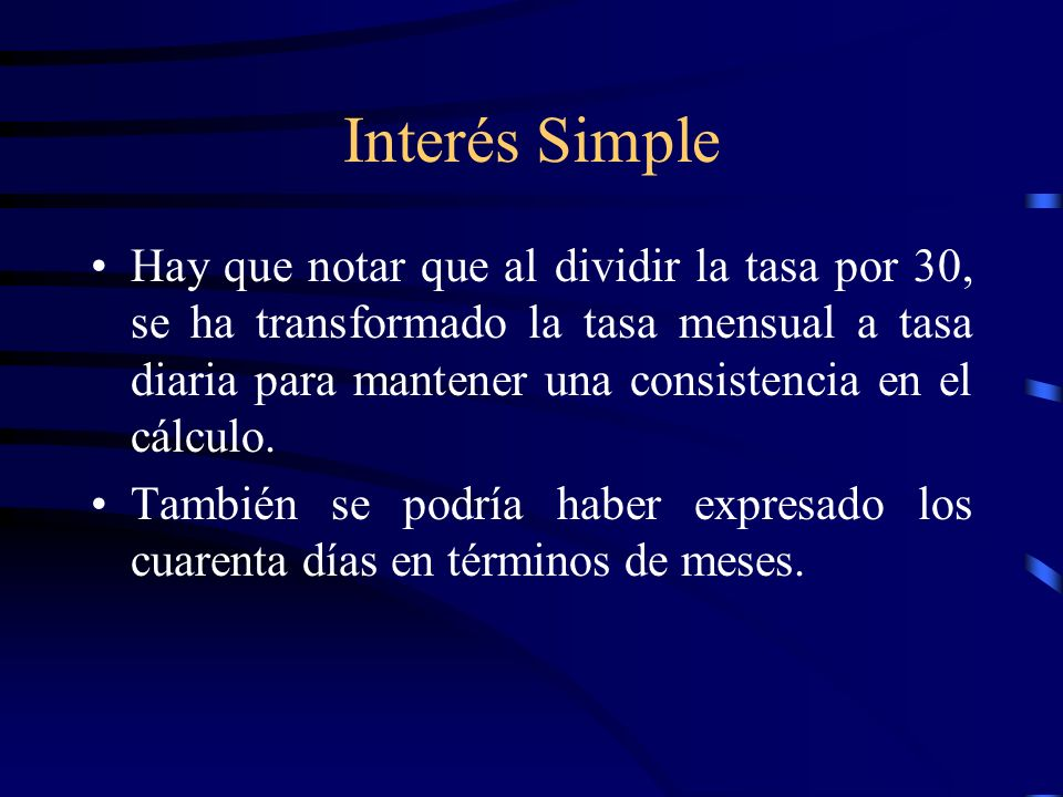 Interés Simple