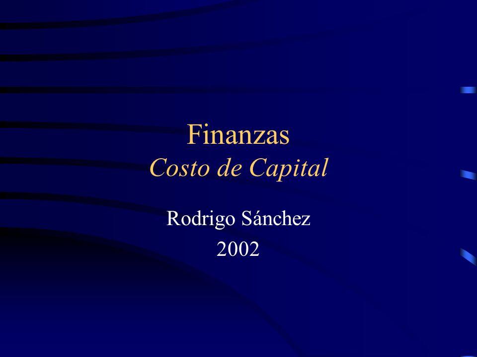 Finanzas Costo de Capital