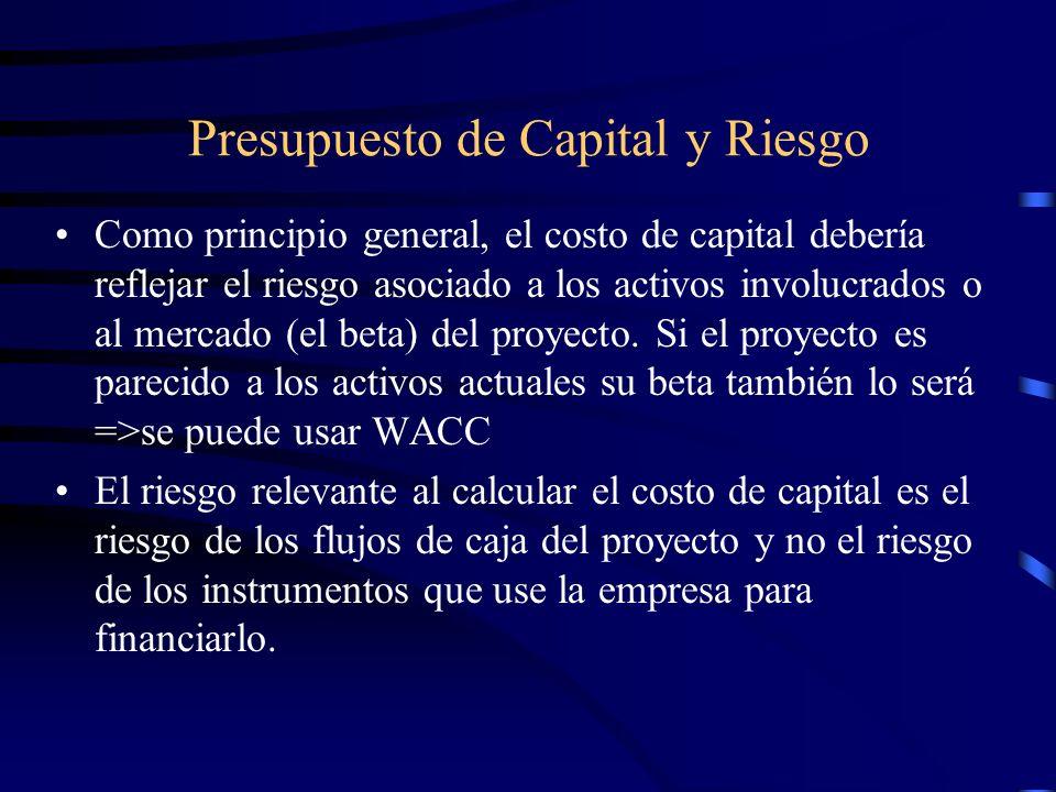 Presupuesto de Capital y Riesgo