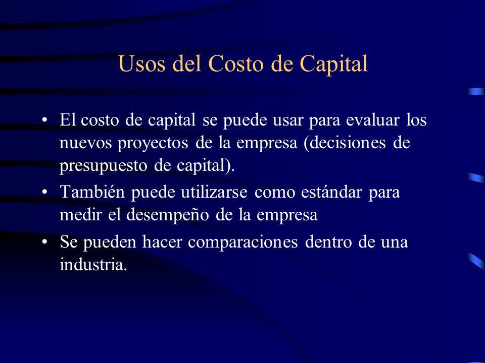 Usos del Costo de Capital
