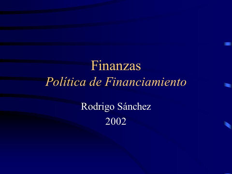 Finanzas Política de Financiamiento