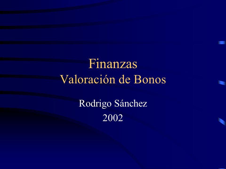 Finanzas Valoración de Bonos