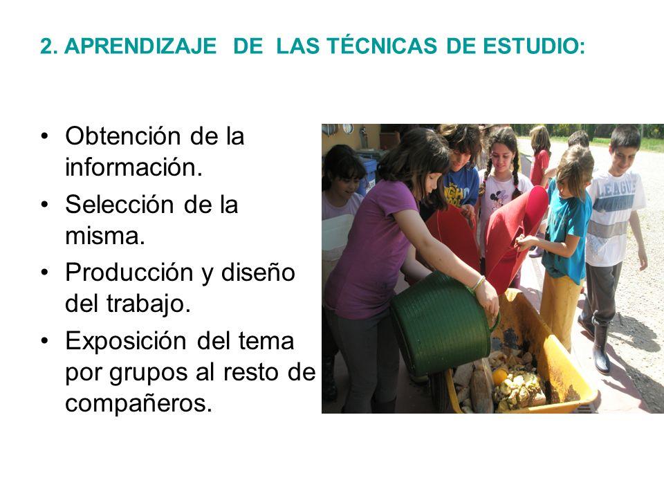 2. APRENDIZAJE DE LAS TÉCNICAS DE ESTUDIO: