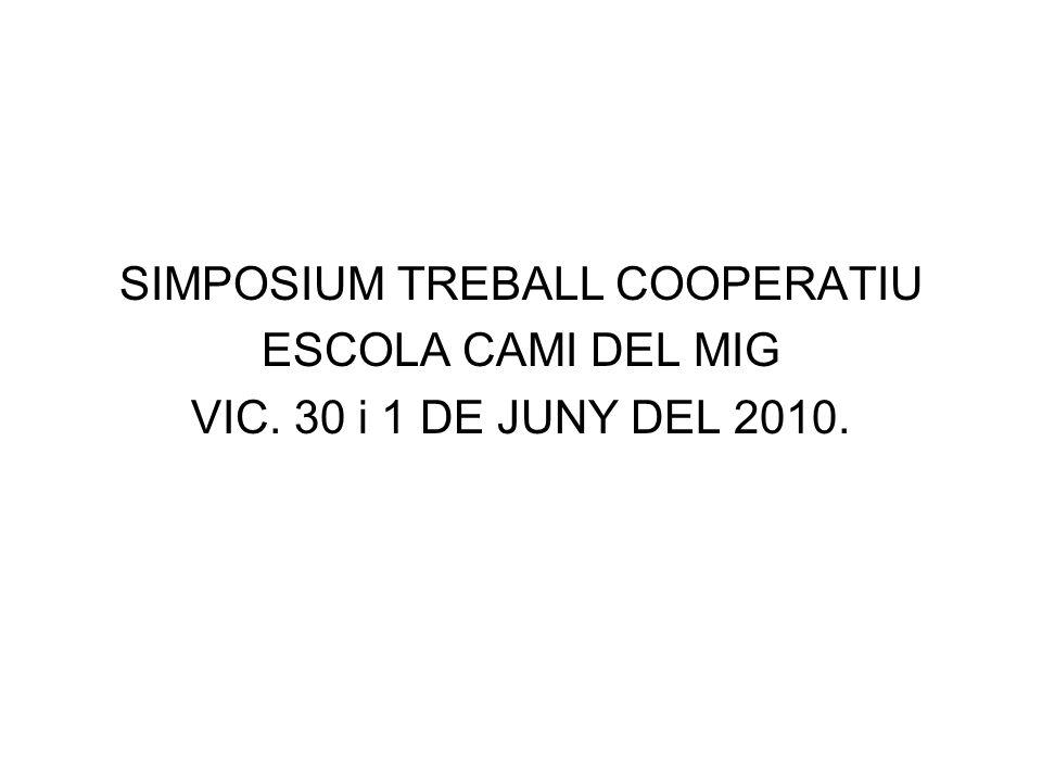 SIMPOSIUM TREBALL COOPERATIU
