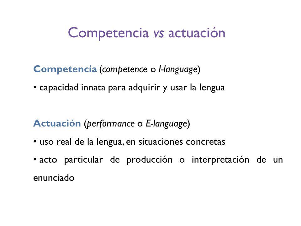 Competencia vs actuación