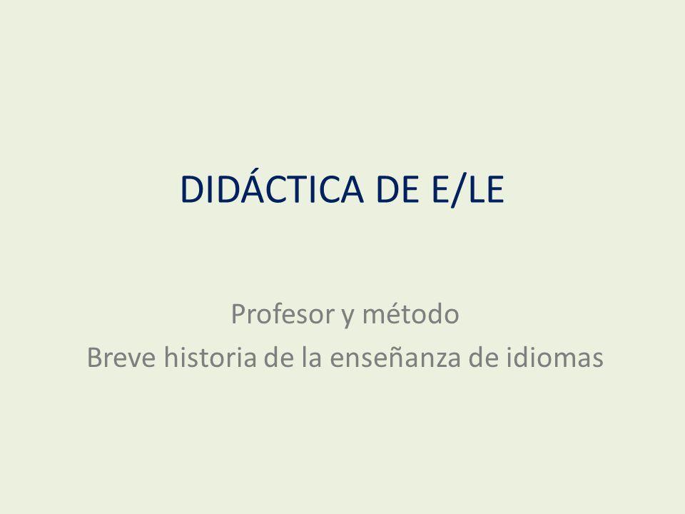 Breve historia de la enseñanza de idiomas