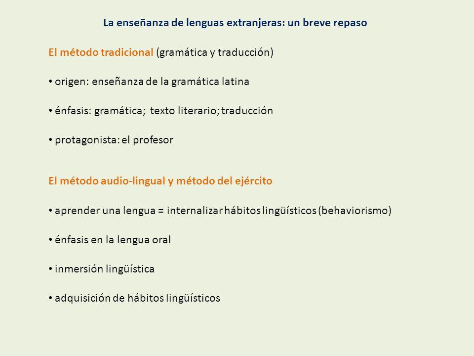 La enseñanza de lenguas extranjeras: un breve repaso